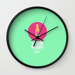 Team bride Copenhagen 2017 Henparty T-Shirt D5q0s Wall Clock