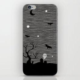 Spoopy Cemetery Print iPhone Skin