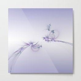 Fey Lights Fractal in Violet Metal Print