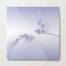 Fey Lights Fractal in Violet Metal Print