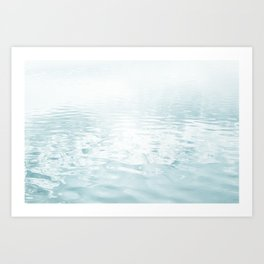 Aqua blue - abstract sea water surface. Art Print