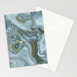 Precious Teal Blue Gemstone Agate Collage Stationery Cards