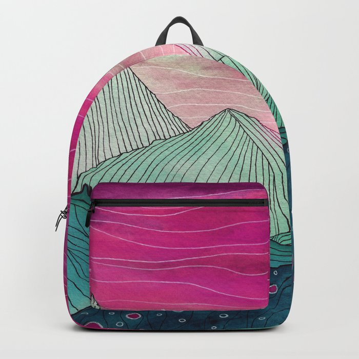 Lines in the mountains XIV Backpack