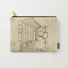 Industrial Farmhouse Blueprint Camera Carry-All Pouch