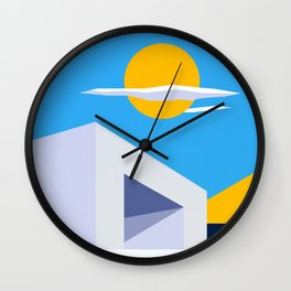 Somewhere by the Sea Wall Clock
