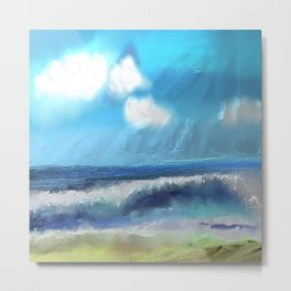 Ocean With Awesome Energy Metal Print