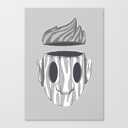 Wooden Head Boy Canvas Print