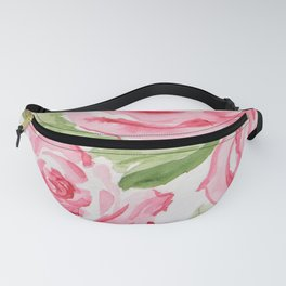 Whimsical Pink Roses Fanny Pack