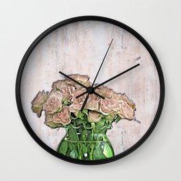 Hard Rose Wall Clock