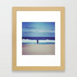 Feeling Blue // Bondi Beach Sydney Australia Framed Art Print