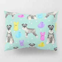 Schnauzer dog breed peeps marshmallow easter spring dog pattern gifts schnauzers Pillow Sham