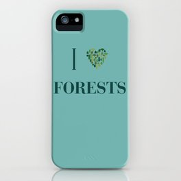 I heart Forests iPhone Case