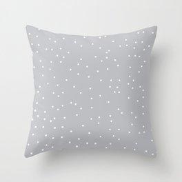 Gray Mist Throw Pillow