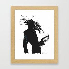 Spinning in Daffodils Framed Art Print