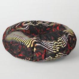 8744-KMA Rear View Feet Legs Thighs Vulva Abstracted Zebra Woman Maher Floor Pillow