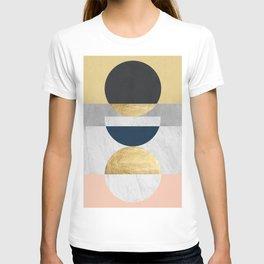 Marble and gold circle T-shirt