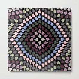 Seamless Colorful Raindrops VI Metal Print
