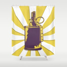 old grenade Shower Curtain
