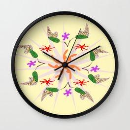 Hashtag Flower Power Wall Clock