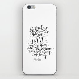 They Will Shine | Roald Dahl Print iPhone Skin