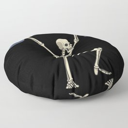 Skeleton with barbell over head squat fitness Floor Pillow