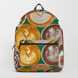 Latte Polka Dots in Winter Green Backpack
