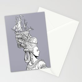Girl With Ship Stationery Cards