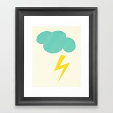 Lightning Strike Framed Art Print