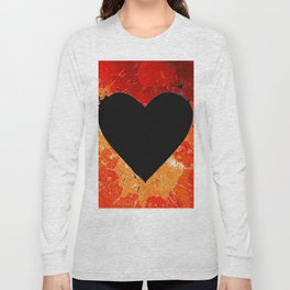 Red Hot Heart Long Sleeve T-shirt