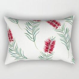 White Bottlebrush Rectangular Pillow