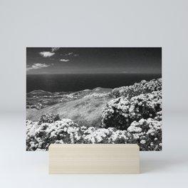 Landscape with hydrangeas Mini Art Print