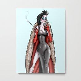 Cruella De Vil Selfie - 101 Dalmatians  Metal Print