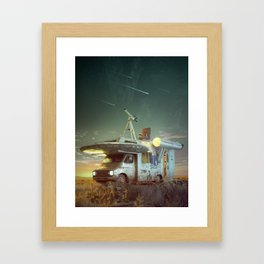 To boldly go where no man has gone before Framed Art Print