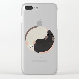 Yin Yang Rats Clear iPhone Case