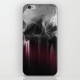 Creepy skull iPhone Skin