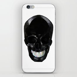 Skull Black Low Poly iPhone Skin