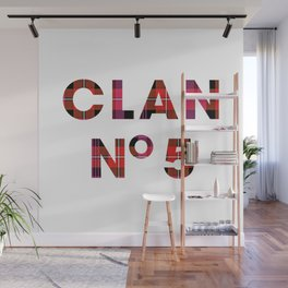 CLAN No 5 – Tartan Red Wall Mural