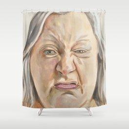 Sneer Shower Curtain