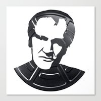 quentin tarantino Canvas Prints featuring Quentin Tarantino by Alejandro de Antonio Fernández