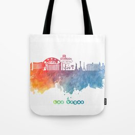 Las Vegas Nevada Skyline colored Tote Bag