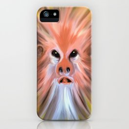 abstract face ghost iPhone Case