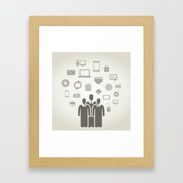 Person the computer Framed Art Print
