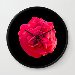 Blossom of a rose Wall Clock