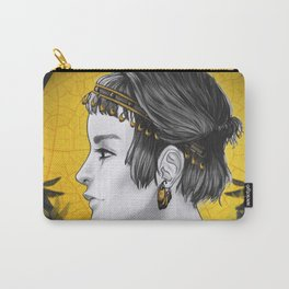 Sunny Grey Carry-All Pouch