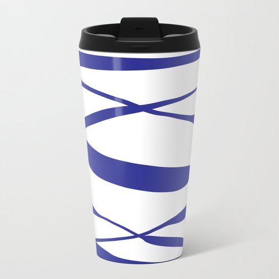 A Bottomless Sea No. 3 Blue Metal Travel Mug