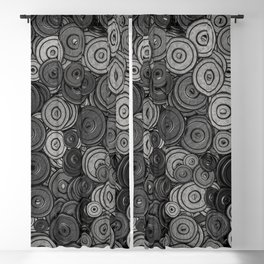 Heavy iron / 3D render of hundreds of heavy weight plates Blackout Curtain