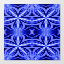 Electric Blue Pattern Canvas Print