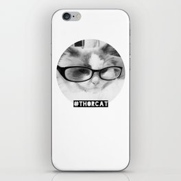 Hipster Thor Cat iPhone Skin