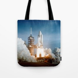 First Space Shuttle Launch Tote Bag