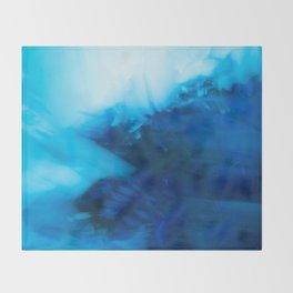 winter sea waves abstract digital painting Throw Blanket